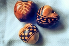 3 Various Designed Kukui Nuts