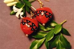 Dyed Kukui Earrings