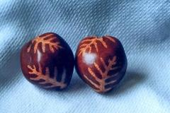 Dyed Laua'e Design Earrings