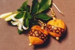 Kape'a Kapu Design Kukui Earrings2b