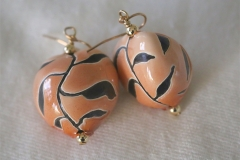 Maile Design Epoxy Earrings 7a